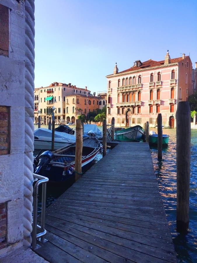 пристань venice canale большая стоковая фотография rf