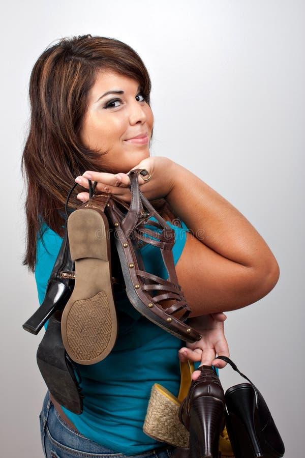 пристрастившийся ботинки к стоковые фотографии rf