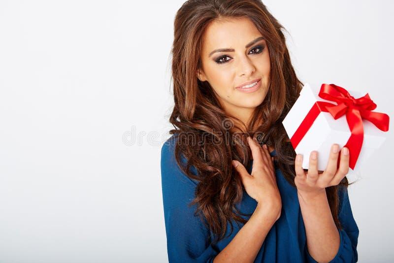 присутствующая женщина стоковое изображение