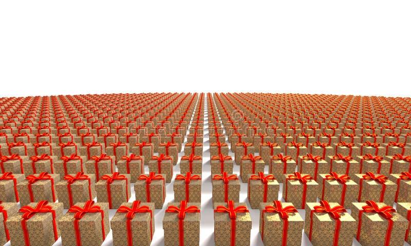 Присутствующим изображение коробки произведенное компьютером стоковое изображение rf