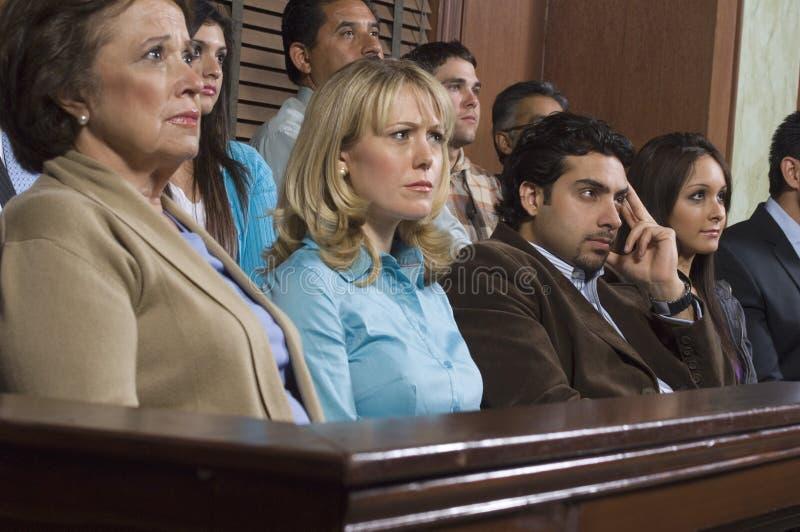 Присяжные заседатели во время пробы стоковая фотография