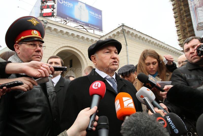 присяжный мэр moscow luzhkov стоковые изображения