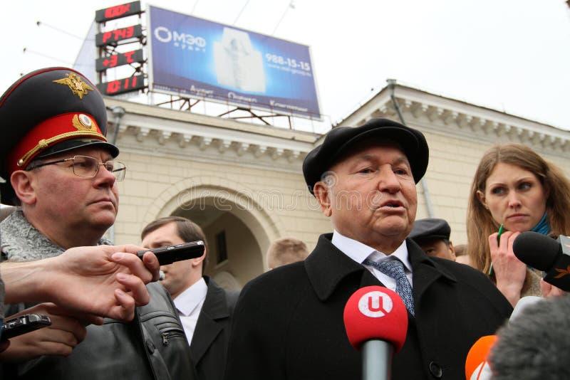 присяжный мэр moscow luzhkov стоковое изображение