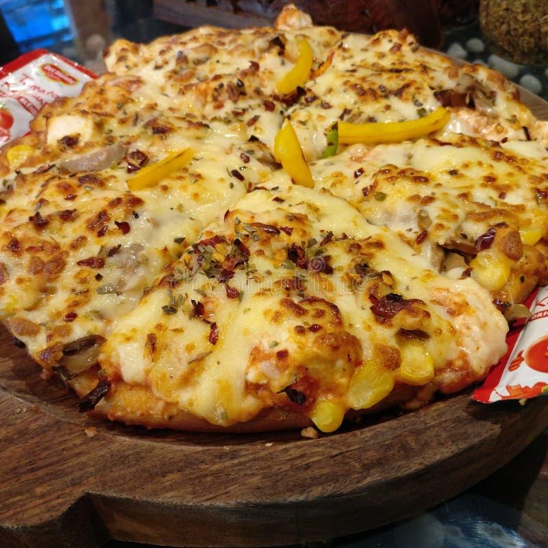 Притворная пицца стоковое фото rf