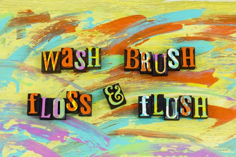 Приток зубочистки щетки мытья стоковые фото