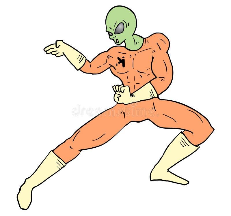 Притяжка бойца чужеземца бесплатная иллюстрация