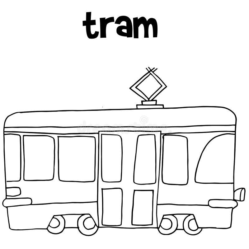 контурная картинка трамвая смогут
