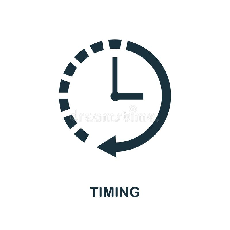 Приурочивая значок Monochrome дизайн стиля от собрания значка дела Ui Значок времени пиктограммы пиксела идеальный простой Веб-ди бесплатная иллюстрация