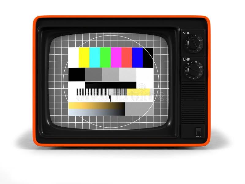 прифронтовое ретро отборочное испытание tv иллюстрация вектора