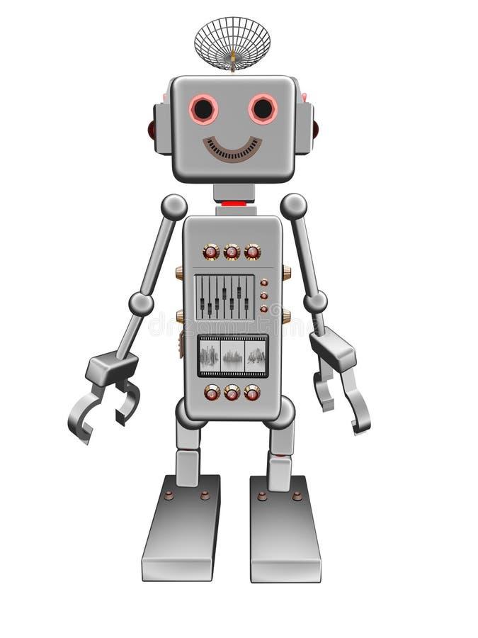 прифронтовой сбор винограда серебра робота бесплатная иллюстрация