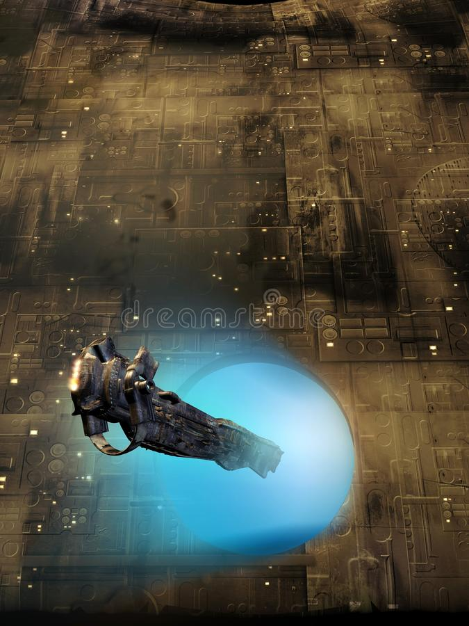 Приходить в космический корабль-носитель бесплатная иллюстрация