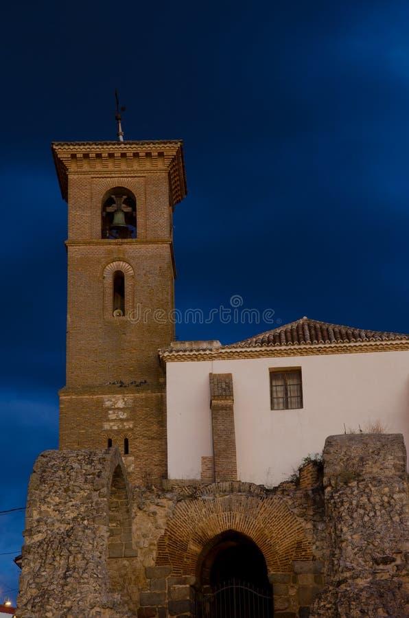 Приходская церковь Santa Maria de Лос Alcazares стоковые фотографии rf