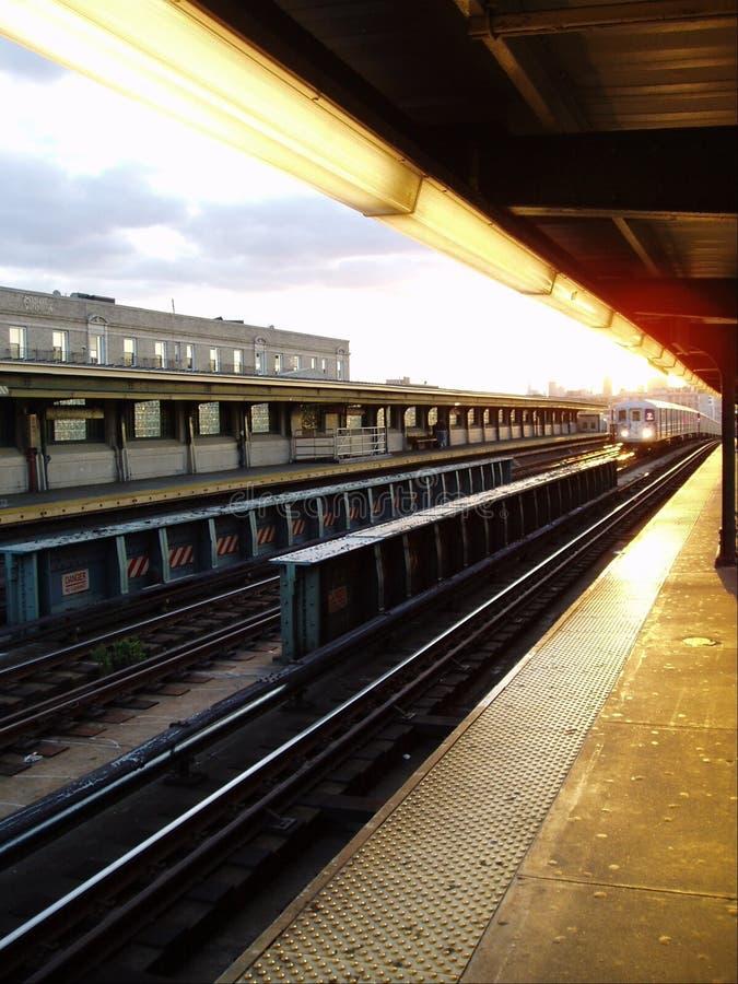 приходя поезд стоковое изображение rf