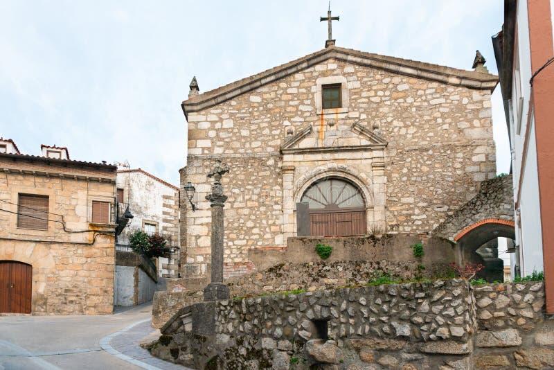 Приход Санта María Магдалена в Villamiel Caceres, Испания стоковое изображение