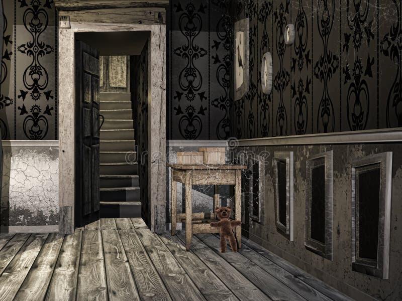 Прихожая в старом доме бесплатная иллюстрация