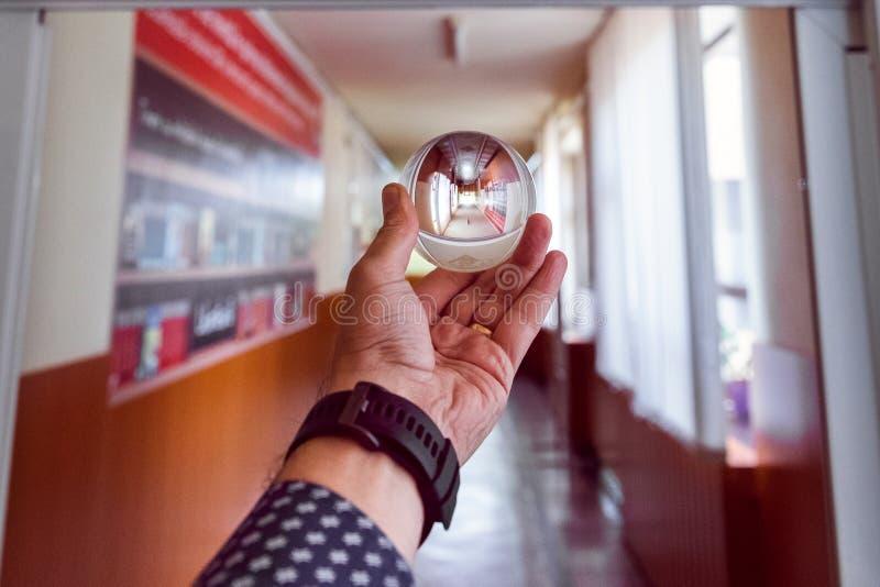 Прихожая Lensball стоковое изображение rf