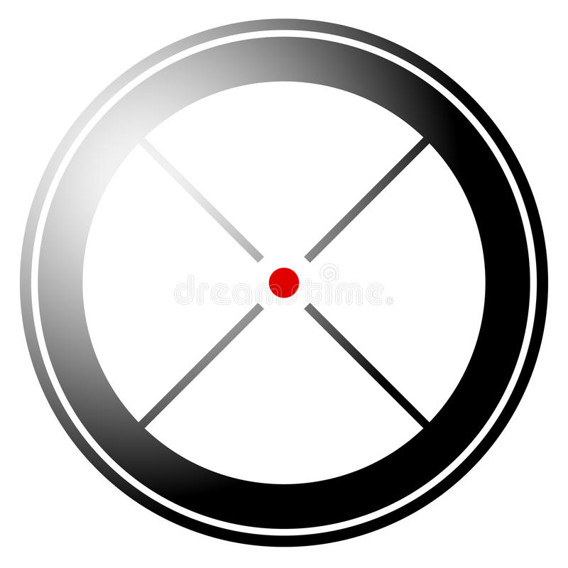Download Прицельтесь метка, перекрестие, значок перекрещения с красной точкой Иллюстрация вектора - иллюстрации насчитывающей ряд, выравниваний: 81811879