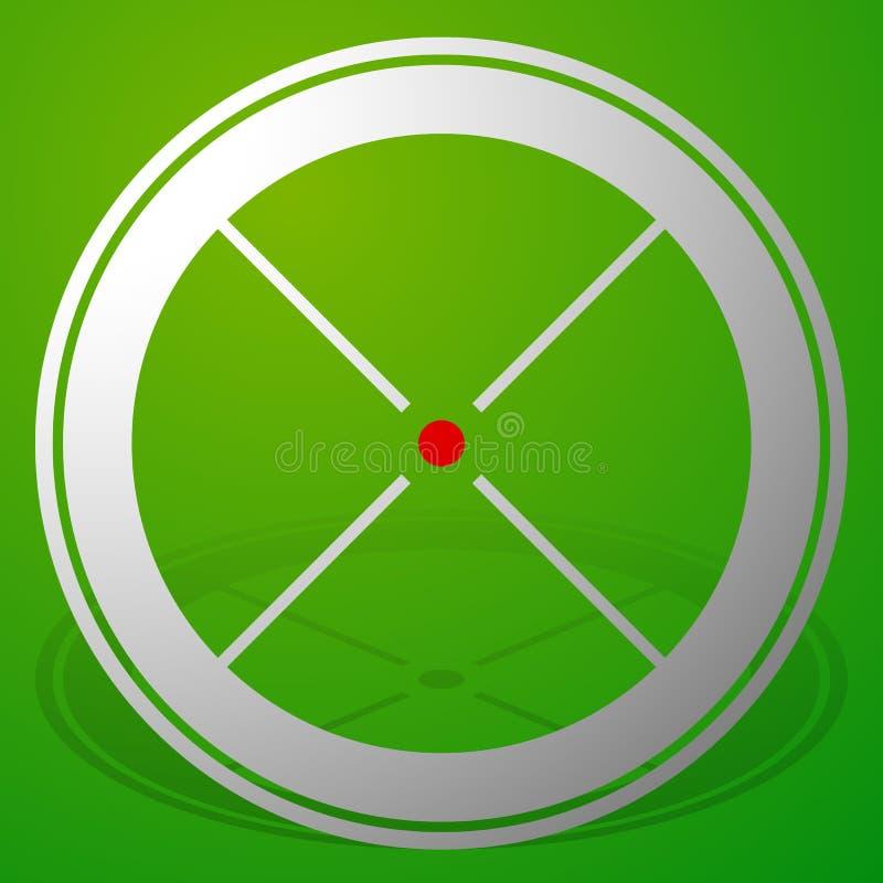 Download Прицельтесь метка, перекрестие, значок перекрещения с красной точкой Иллюстрация вектора - иллюстрации насчитывающей оптически, accurateness: 81811885