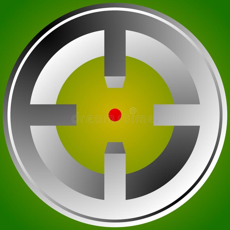 Download Прицельтесь метка, перекрещение, значок перекрестия для фокуса, точности, цели Иллюстрация вектора - иллюстрации насчитывающей точность, bullseye: 81811831