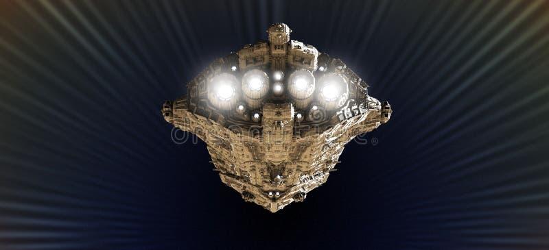 причаливая скорость крейсера сражения светлая иллюстрация штока