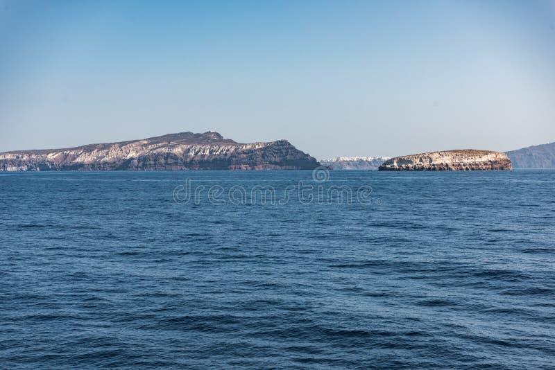 Причаливая Santorini стоковая фотография rf