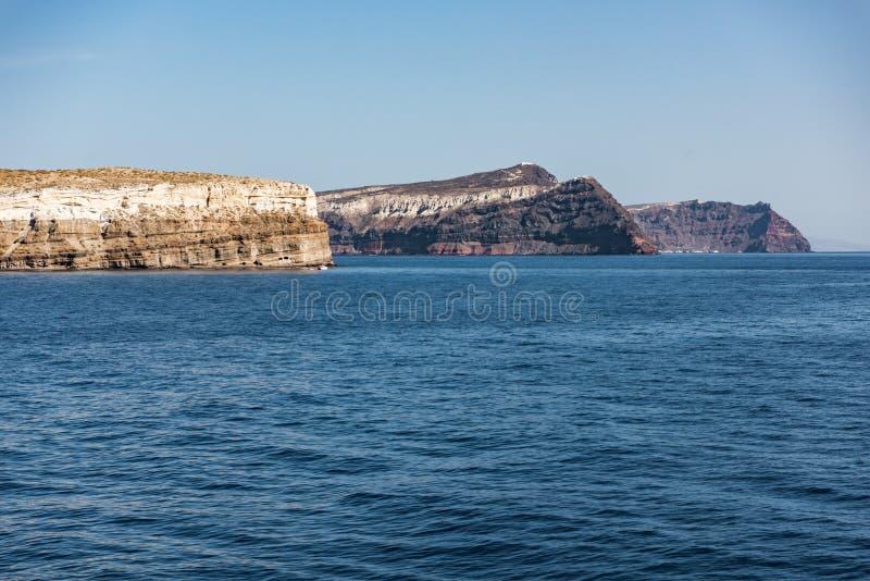 Причаливая Santorini стоковые фото
