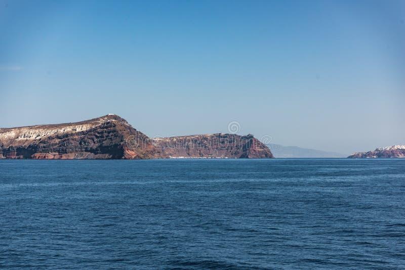 Причаливая Santorini стоковая фотография
