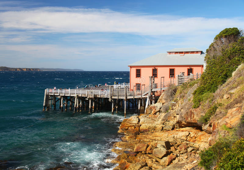 Причал в NSW, Австралия Tathra стоковое фото rf