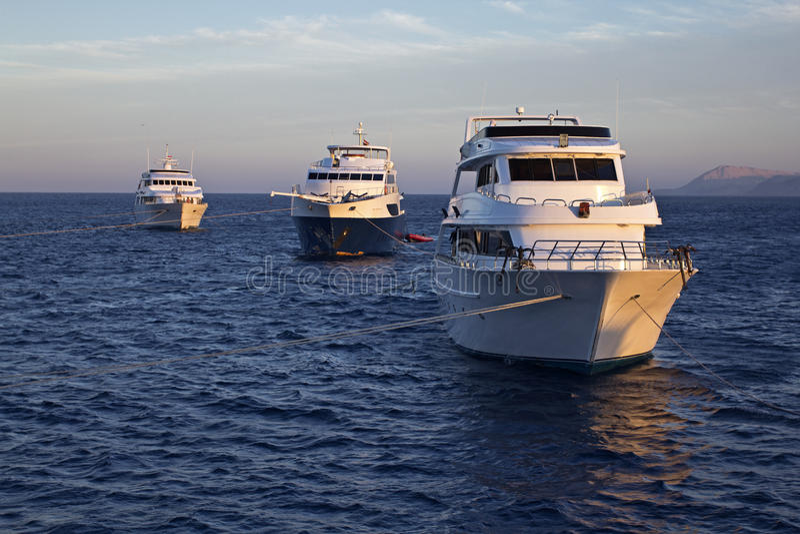 Причаленные яхты стоковое изображение rf