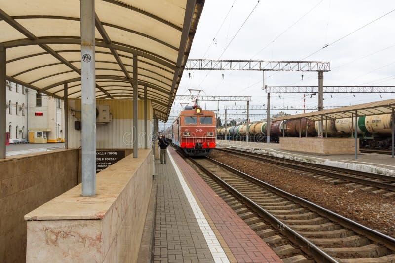 Причаливая поезд стоковое изображение