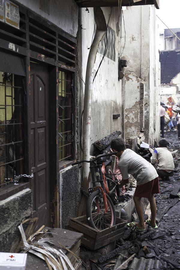 Причина дома ожога взрывом печки стоковая фотография rf
