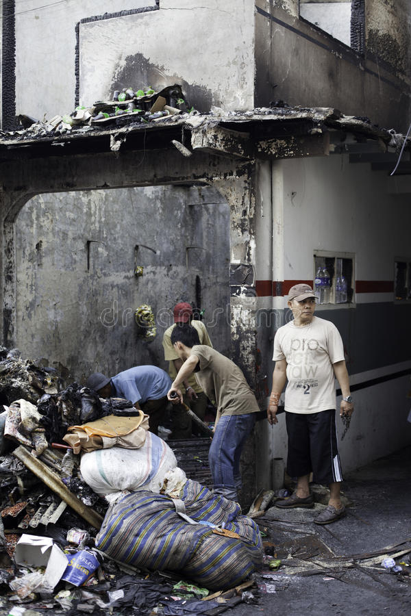 Причина дома ожога взрывом печки стоковое фото