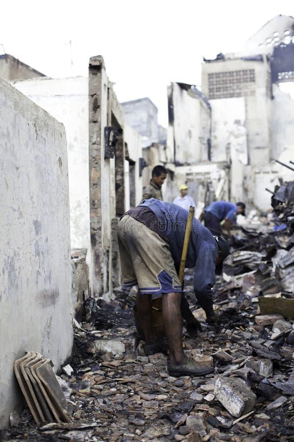 Причина дома ожога взрывом печки стоковое изображение rf