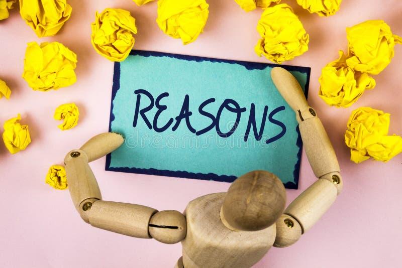 Причины сочинительства текста почерка Смысл концепции причиняет объяснения объяснений для мотивировки действия или события написа стоковые фотографии rf