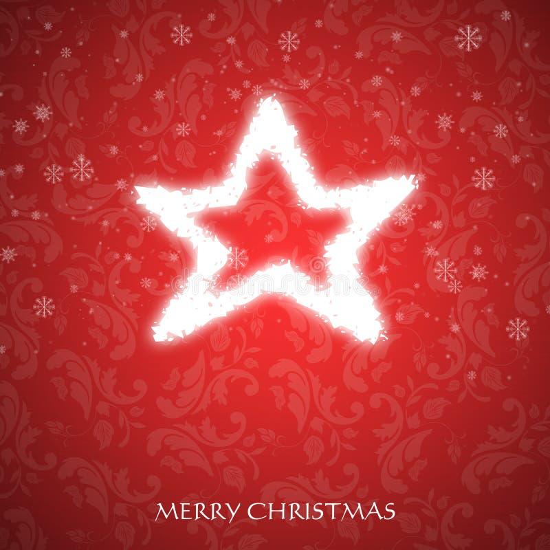 Причудливая рождественская открытка иллюстрация вектора