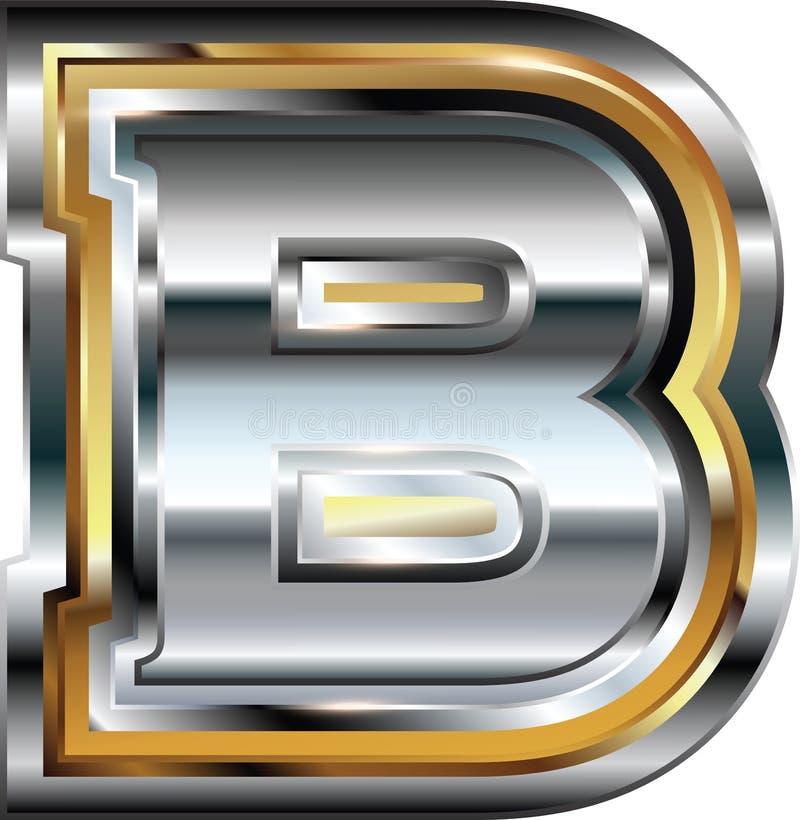 Причудливое письмо b шрифта иллюстрация штока