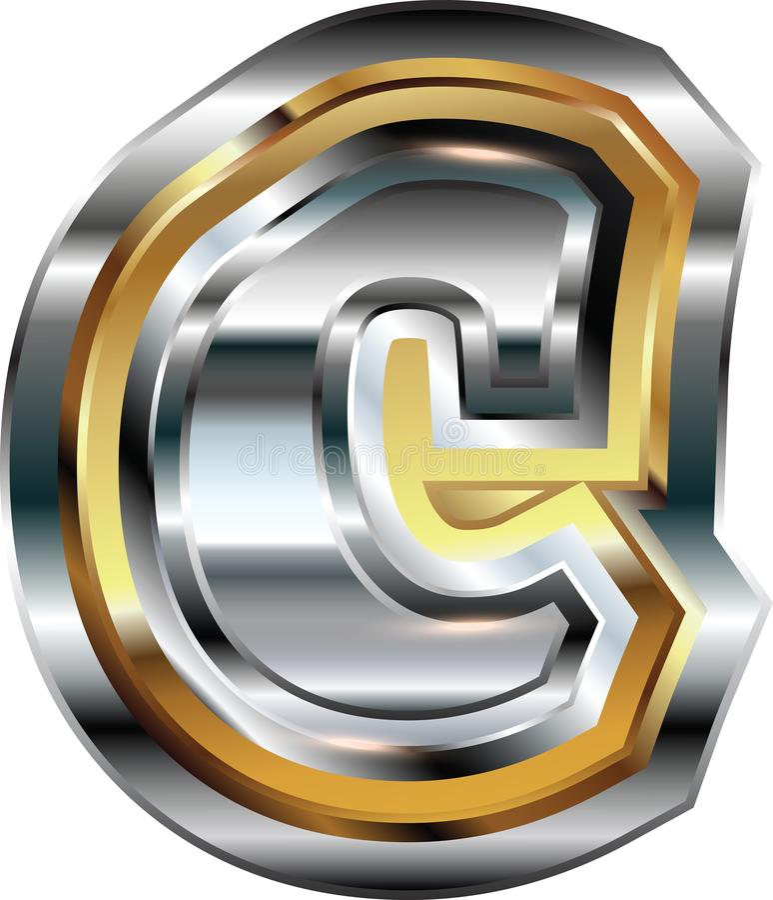 Причудливое письмо c шрифта иллюстрация штока