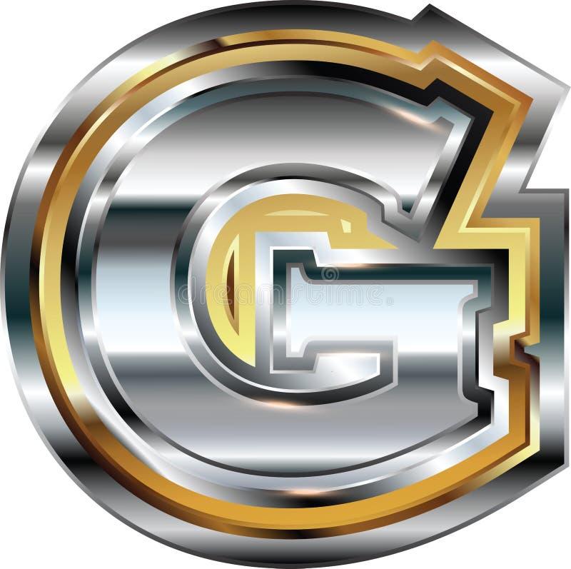 Причудливое письмо g шрифта бесплатная иллюстрация