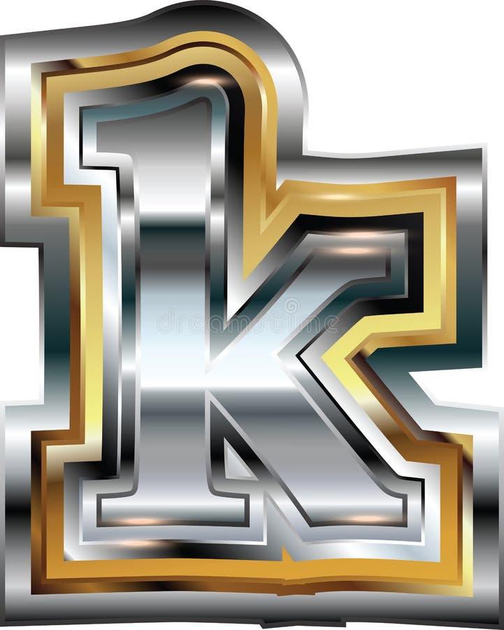 Причудливое письмо k шрифта бесплатная иллюстрация