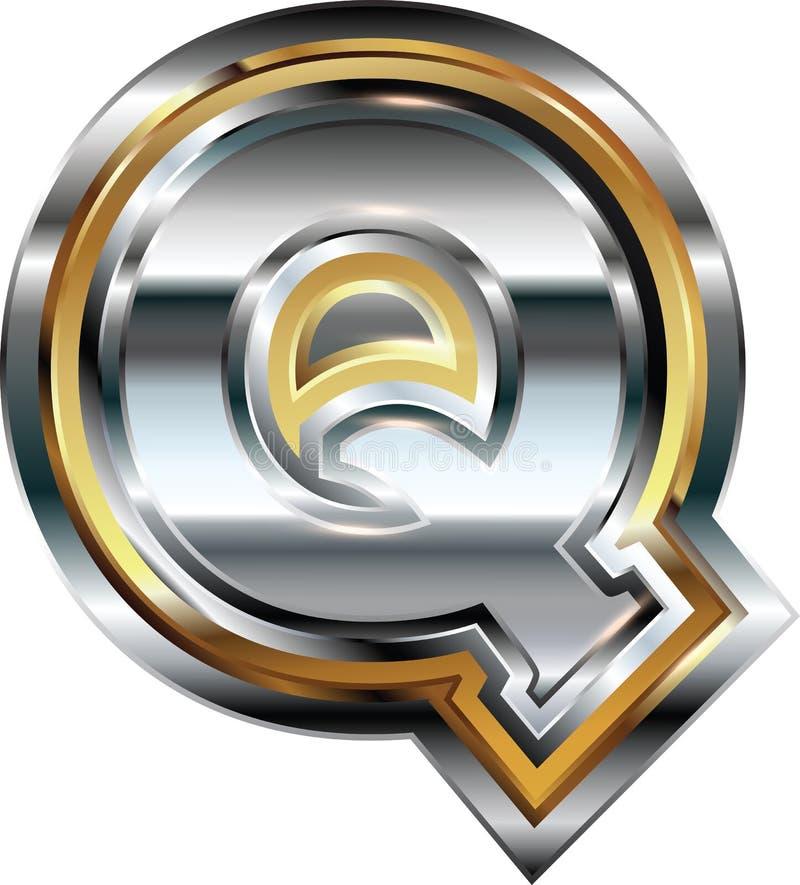 Причудливое письмо q шрифта иллюстрация штока