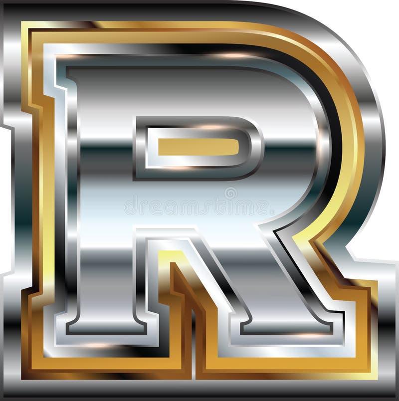 Причудливое письмо r шрифта бесплатная иллюстрация
