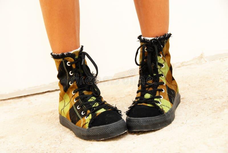 причудливые ботинки стоковое фото
