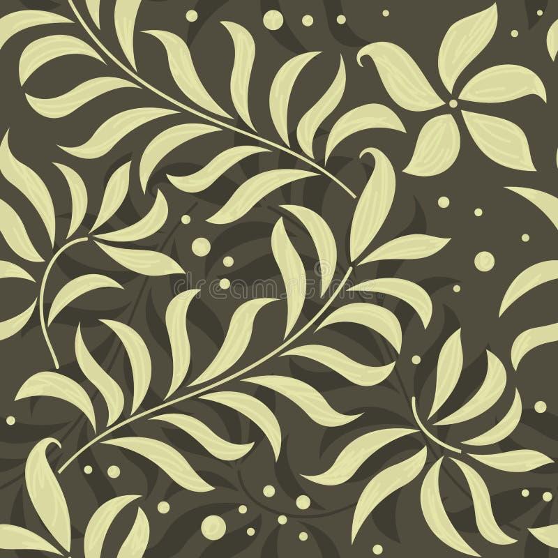 причудливое флористической картины безшовное иллюстрация вектора