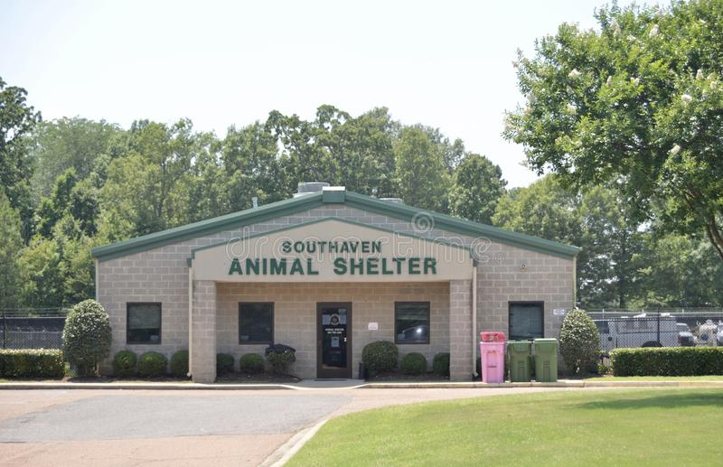 Приют для животных Southaven, Southaven Миссиссипи стоковое фото