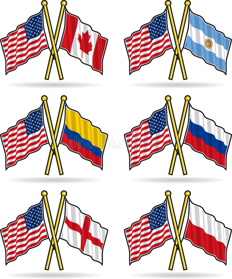 приятельство американских флагов иллюстрация штока
