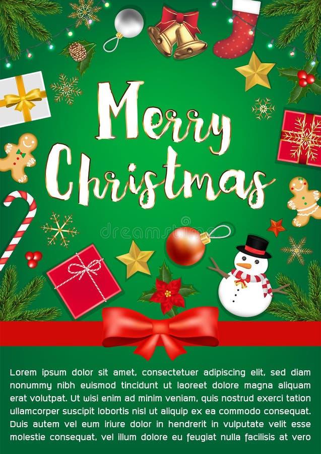 Приятная продажа Chrismast с постером Object Top View бесплатная иллюстрация