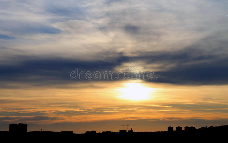 Приятный вечер в чехии стоковые фотографии rf