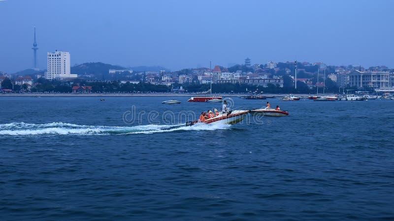 Приятный взгляд взморья scenery2 Qingdao стоковые фотографии rf