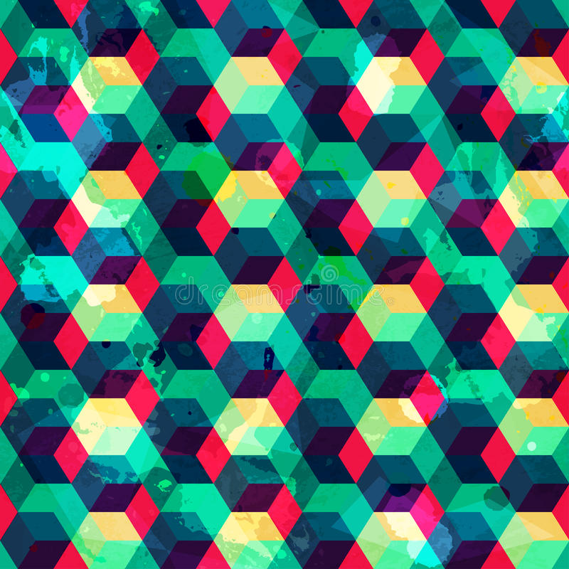 Придает квадратную форму безшовной картине с влиянием grunge иллюстрация штока