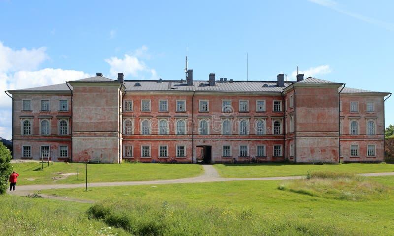 Придайте квадратную форму на одном из островов Суоменлинны в Хельсинки, Финляндии стоковые изображения rf